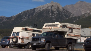 More and more people are choosing to live out of their vehicles in Canmore, Alta.