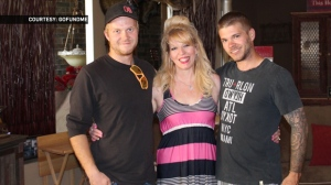 Lisa Lloyd appears in an undated photograph with her sons (GoFundMe)