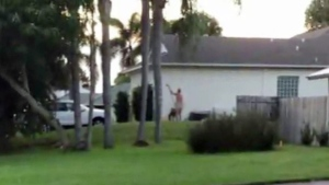 Residents of a neighbourhood in Stuart, Fla., are upset with a neighbour who performs yardwork and other outdoor tasks while naked. (WPBT-TV)