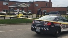 Waterloo Regional Police investigating a shooting at Kitchener's Salvation Army. (Sept. 20, 2018)