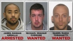 From right: Jabril Hassan Abdalla, Michael Graham Cudmore, and Daniel Mario Tomassetti. (Source: Hamilton Police)
