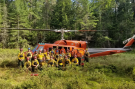 Crew fighting forest fires in northern Ontario