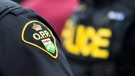 An Ontario Provincial Police badge is seen in this file photo. (File Photo/The Canadian Press)