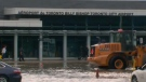 A watermain break near Billy Bishop Airport made for a tricky travel day for some on September 20, 2018.