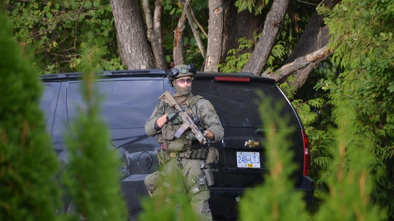 Officials have confirmed that a search warrant executed in Langley on Sept. 19 was connected to a homicide investigation.