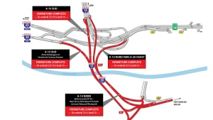 Turcot closures for weekend of Sept. 21, 2018