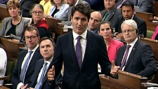 Prime Minister Trudeau in House of Commons