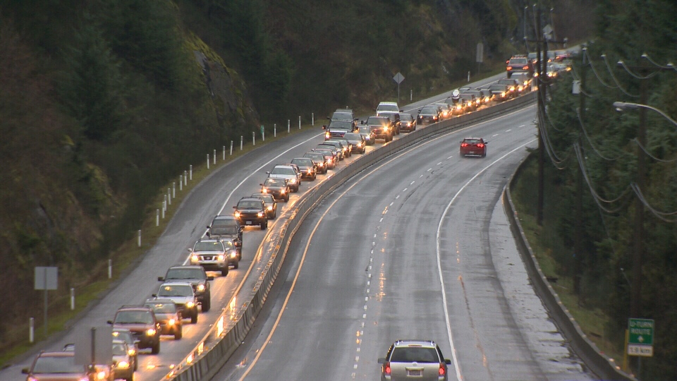The province says long-term Malahat closures occur of four hours or more occur only 1.1 times per year, with seven such closures happening since 2009. (CTV Vancouver Island)