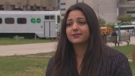 Durham resident Victoria Munroe fell asleep on the GO Train and woke up to find the doors locked.