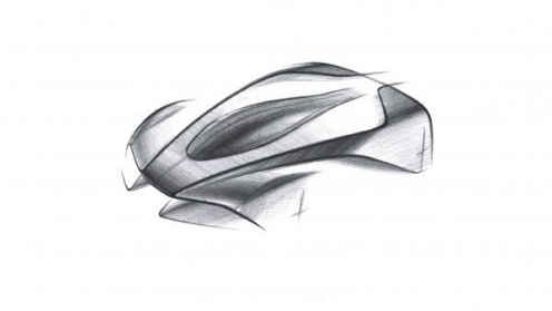 Aston Martin has only revealed a sketch of Project '003' © ASTON MARTIN