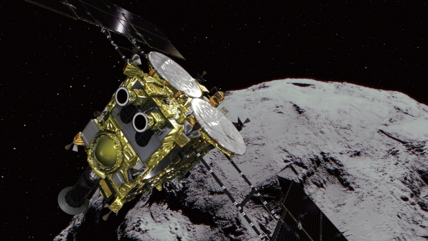 Japan releases space rovers on an asteroid