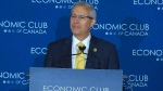 Minister Vic Fedeli delivers remarks in Toronto