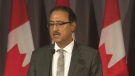 Minister Amarjeet Sohi speaks to media