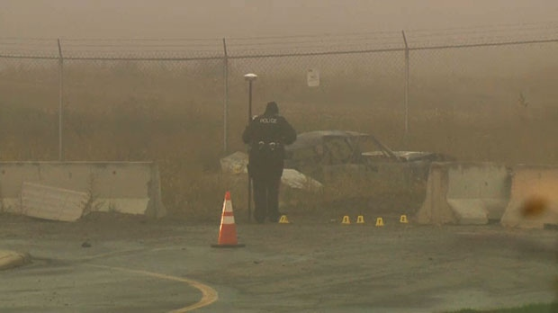 A vehicle burst into flames after it crashed along 130th Avenue SE, killing the driver.