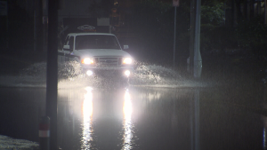 Environment Canada warns there could be localized flooding in low-lying areas as rain drenches Metro Vancouver.