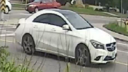 Suspect vehicle wanted in Kitchener shooting investigation. (Courtesy: WRPS)