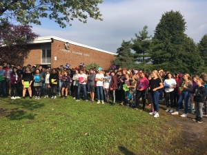 Chippewa Secondary students in North Bay walk out