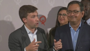 QS co-spokesperson Gabriel Nadeau-Dubois wants CAQ premier Francois Legault to honour his pledge on electoral reform.