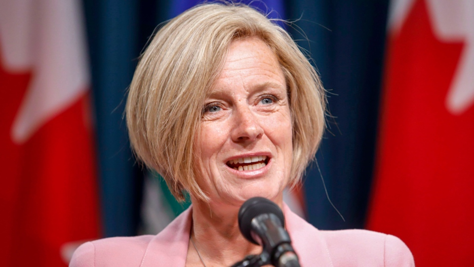 Alberta Premier Rachel Notley discusses pipeline expansion with reporters in Calgary, Alta., Thursday, Sept. 6, 2018.THE CANADIAN PRESS / Jeff McIntosh