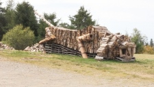 N.B. man turn firewood into art