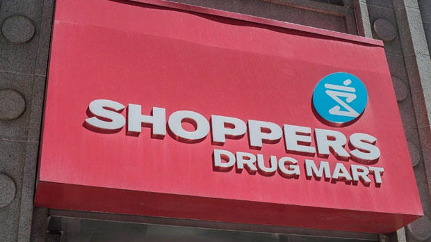 The logo for Shoppers Drug Mart is shown in downtown Toronto, on Tuesday, May 24, 2016. THE CANADIAN PRESS/Eduardo Lima