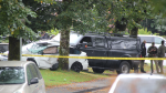 Mounties flooded a residential neighbourhood in Burnaby Friday afternoon in connection with a stolen vehicle investigation. (Shane MacKichan)