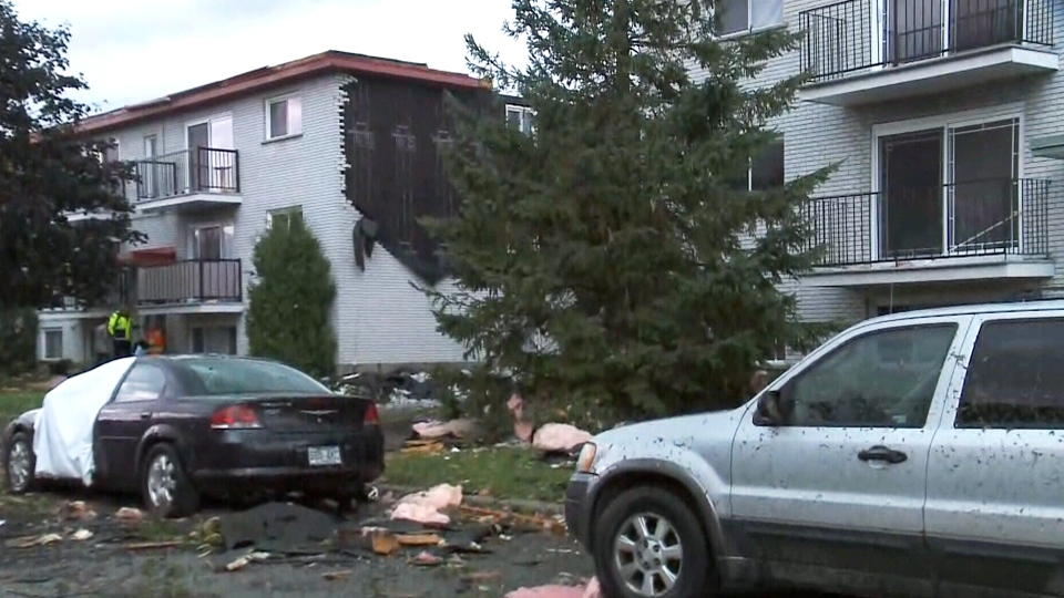 Damage in Ottawa from tornado