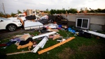 Damage from a tornado is seen in Dunrobin, Ontario west of Ottawa on Friday, Sept. 21, 2018.(THE CANADIAN PRESS / Sean Kilpatrick)