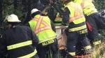 Car crash at Cameron Lake traps man for hours
