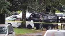 Heavily armed Mounties arrest truck theft suspect