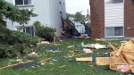 A view of damage caused to a property in the Ottawa area after a tornado hit, Friday, Sept. 21, 2018.