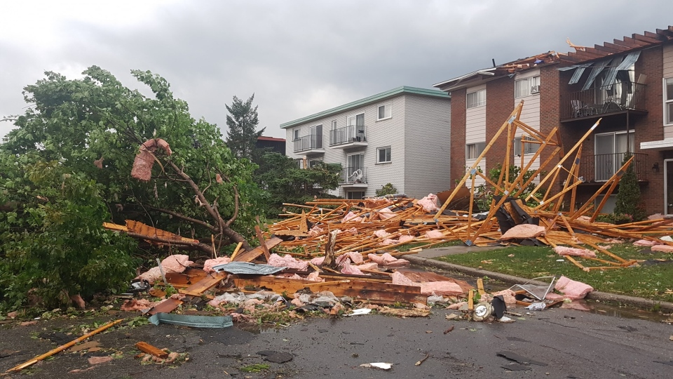 Some of the aftermath of the tornado that touched down in the Ottawa region. (Vincent-Carl Leriche/Facebook)
