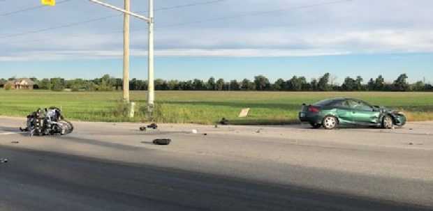 OPP investigate a fatal crash on County Road 42 at Patillo Road at Lakeshore on Saturday, Sept. 22, 2018. (Source: OPP)