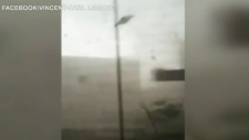 Man films video from inside fierce tornado