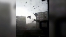 Man films video inside torndao