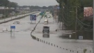 The rain and floods caused major damage and sent several people to hospital