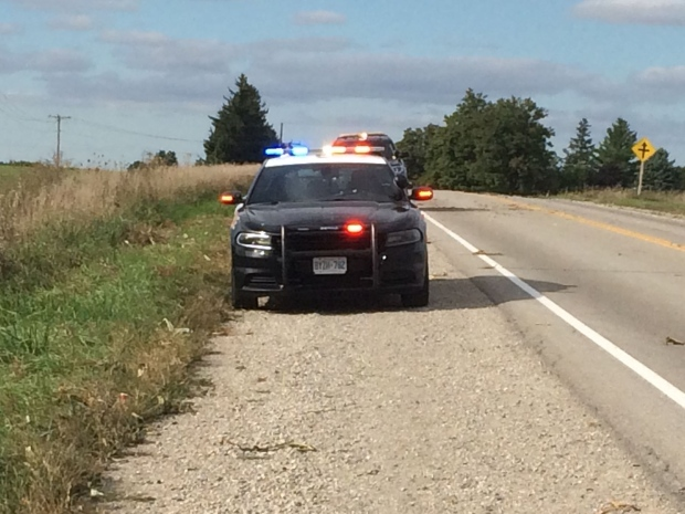 OPP investigate a crash on Putnam Road