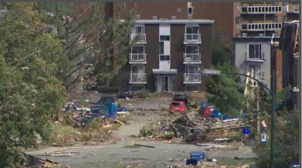 Just some of the devastation in Gatineau