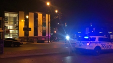 A 32-year-old man is recovering in hospital after being stabbed in downtown Barrie on Friday, September 22, 2018. (CTV Barrie/Beatrice Vaisman)