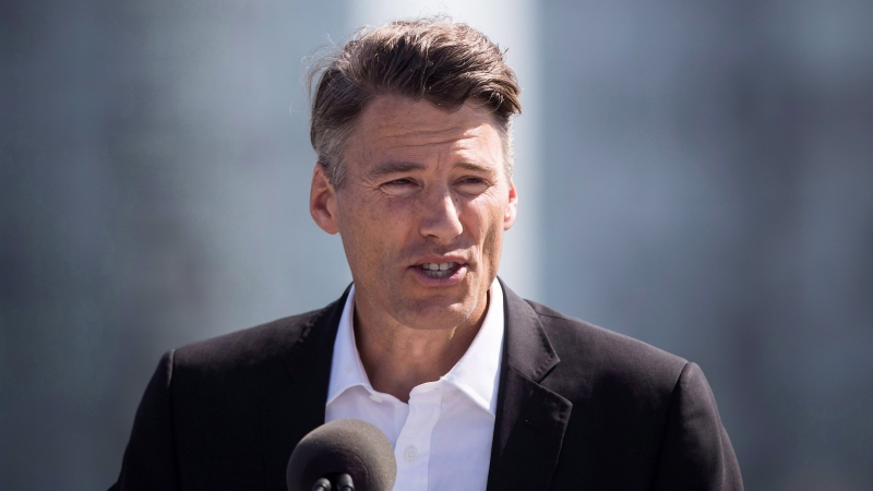 Former Vancouver mayor Gregor Robertson, seen here at a transit funding announcement in Surrey, B.C., on Tuesday Sept. 4, 2018. (THE CANADIAN PRESS / Darryl Dyck)