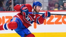 Paul Byron, an Ottawa native, was one of four players to play in all 82 games with Montreal in 2017-18. (Photo courtesy of NHL.com)