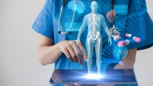 Chinese companies have been learning from other countries to develop and implement AI-assisted care such as medical imaging diagnosis, robot surgical systems, and drug research and development. (metamorworks / IStock.com)