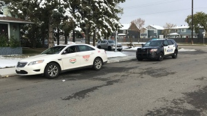 An arrest has been made after a taxi driver was assaulted and his cab was stolen in north Edmonton Sunday morning.