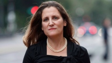 Canadian Foreign Affairs Minister Chrystia Freeland arrives at the Office Of The United States Trade Representative, Tuesday, Sept. 11, 2018, in Washington. Chrystia Freeland was not happy. With trilateral NAFTA talks having been on hiatus for most of the summer, the foreign affairs minister was in Berlin, barely one full day into a week-long diplomatic mission to Europe, when news emerged that the United States and Mexico had forged their own trade alliance in Canada's absence. THE CANADIAN PRESS / AP, Carolyn Kaster