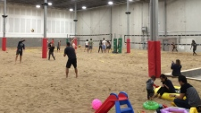 Staff at The Beach YYC are offering some sandy fun year-round in the City of Calgary with their 23,000 square foot facility featuring an indoor beach.