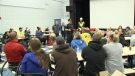Dunrobin residents at community meeting.