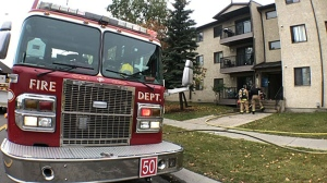 The Calgary Fire Department quickly extinguished a fire at an apartment complex on Sunday afternoon and found the body of a pet cat inside the unit.