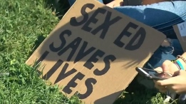 Student sex-ed protest at Queen's Park