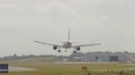 Plane landing aborted during strong winds