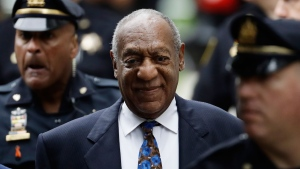 Bill Cosby arrives for his sentencing hearing at the Montgomery County Courthouse, Monday, Sept. 24, 2018, in Norristown, Pa. (AP Photo/Matt Slocum)